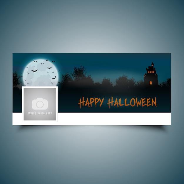 Halloween landscape timeline cover
