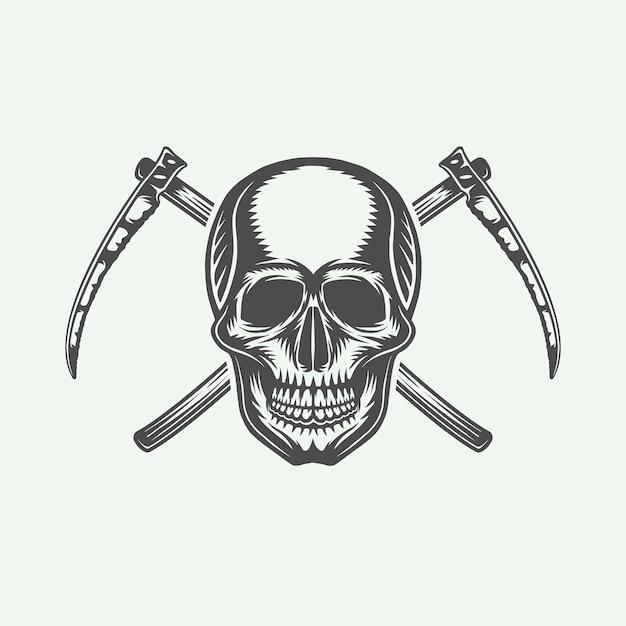 ハロウィーンのロゴ、エンブレム Premiumベクター
