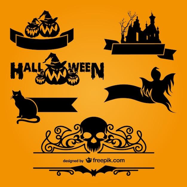 halloween logo templates vector free download