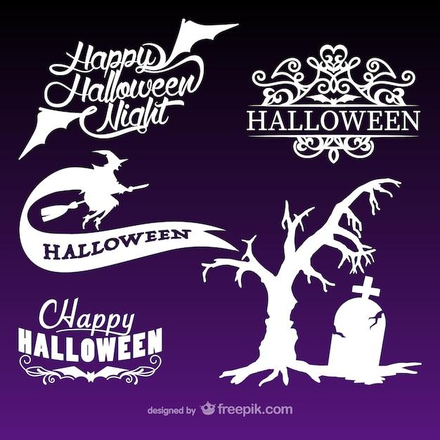 Halloween logos pack Vector | Free Download