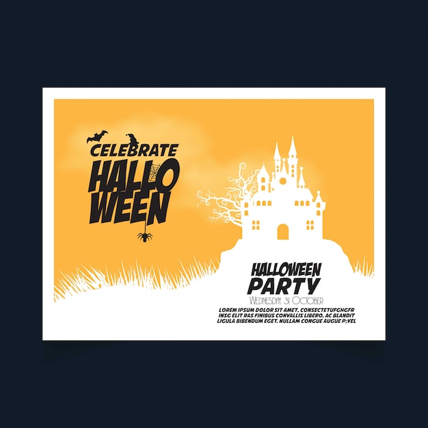 Halloween party banner Free Vector