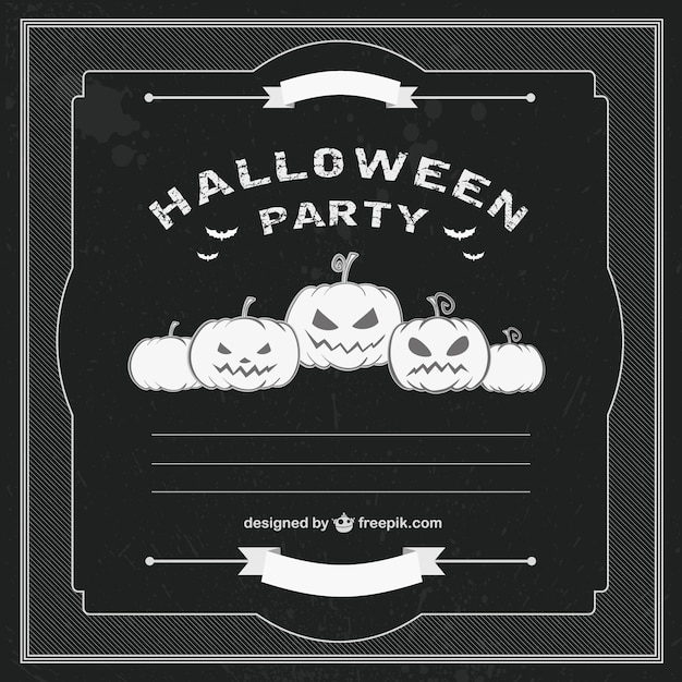 Halloween party black and white template