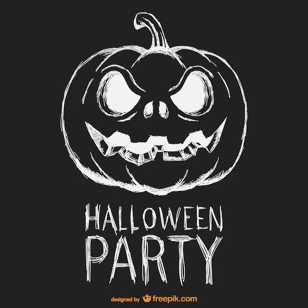Halloween Vector Black And White.Halloween Party Black And White Poster Vector Free Download