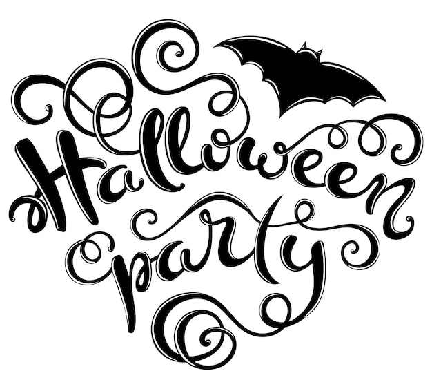 Halloween party card Premium Vector
