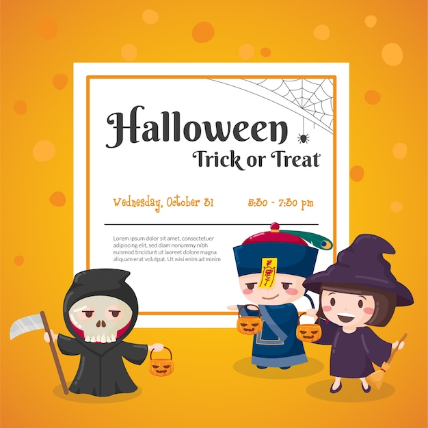 Halloween party event poster Premium Vector
