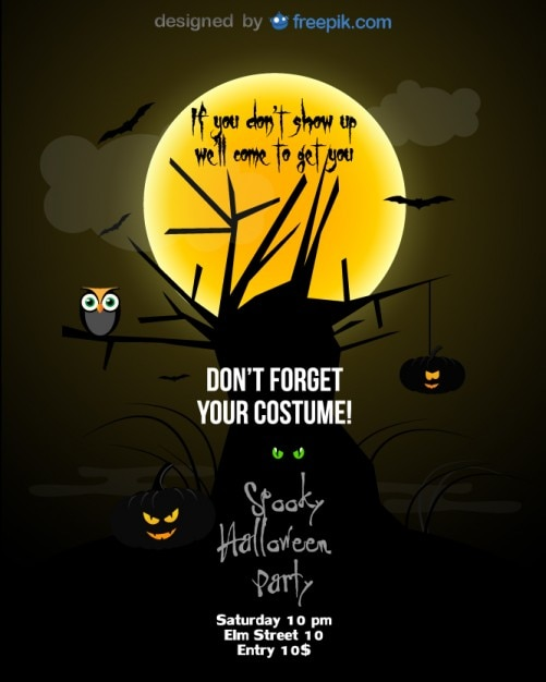 Halloween Party Flyer Black Template