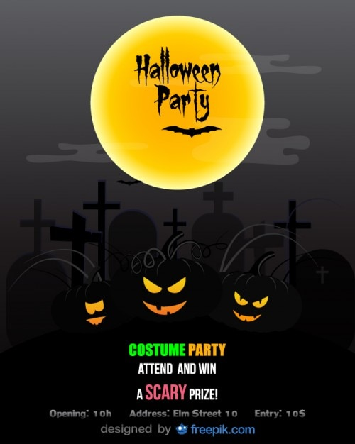Halloween Party Flyer Costume party