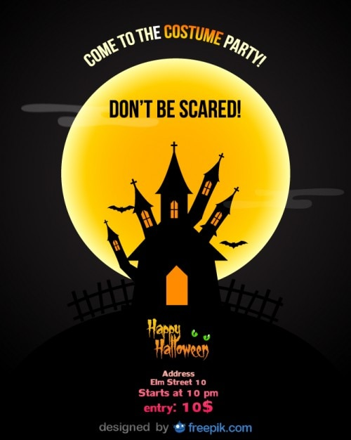 Halloween Party Flyer Template Vector | Free Download
