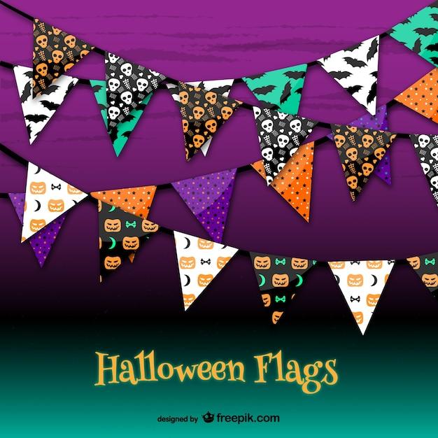 Halloween party garlands vector free download for Halloween girlande
