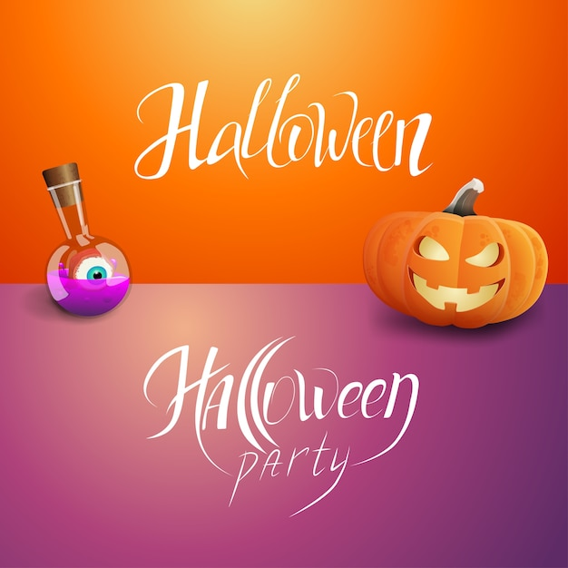 Halloween party and halloween Premium Vector