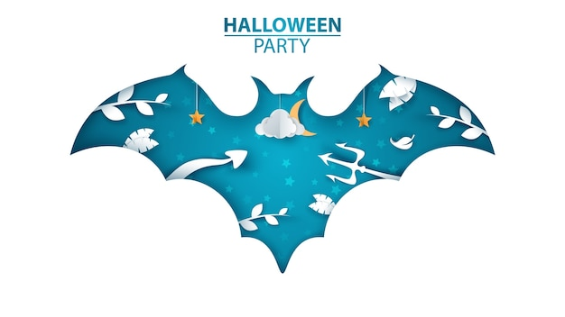 Halloween party illustration. Premium Vector