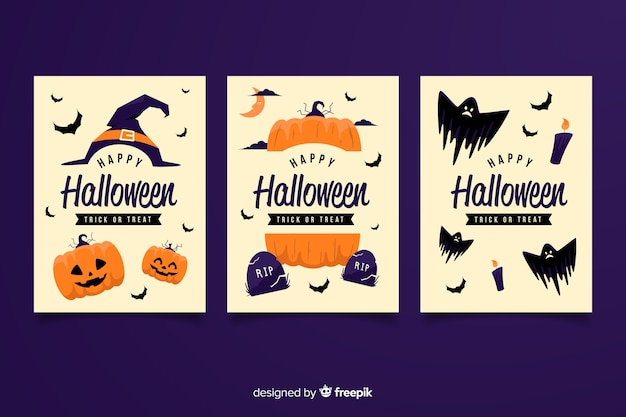 Halloween Party Invitation Cards With Different Scary