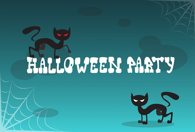 Halloween party invitation to celebration traditional decoration Premium Vector
