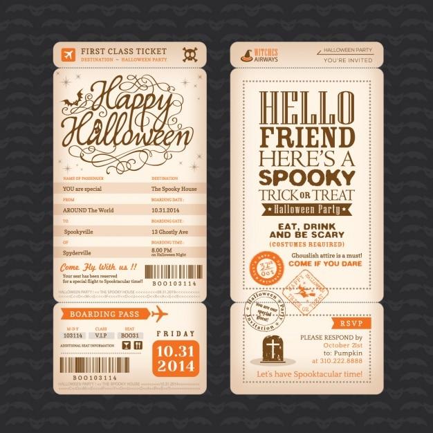 Halloween party invitation design vector free download halloween party invitation design free vector stopboris Gallery
