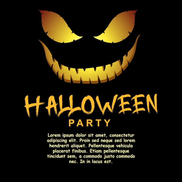 halloween party invitation template vector premium download