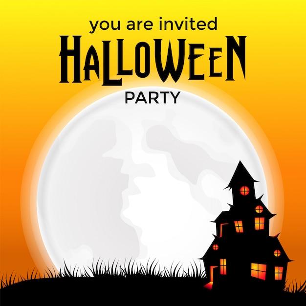 halloween party invitation template vector premium download
