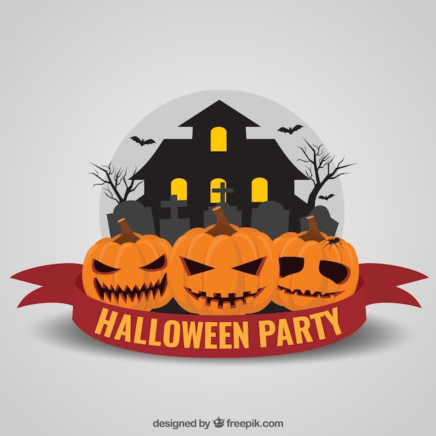 Halloween party invitation vector free download halloween party invitation free vector stopboris Gallery