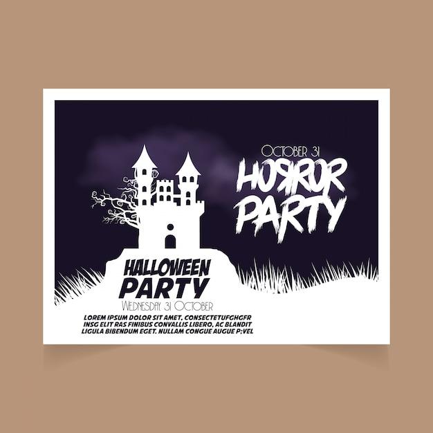 Halloween party october 31st banner Premium Vector