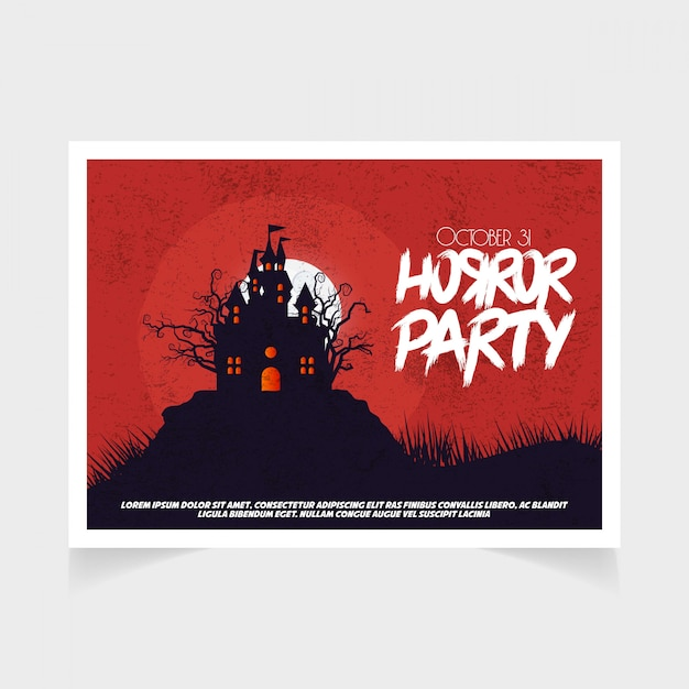 Halloween party october 31st red template Premium Vector