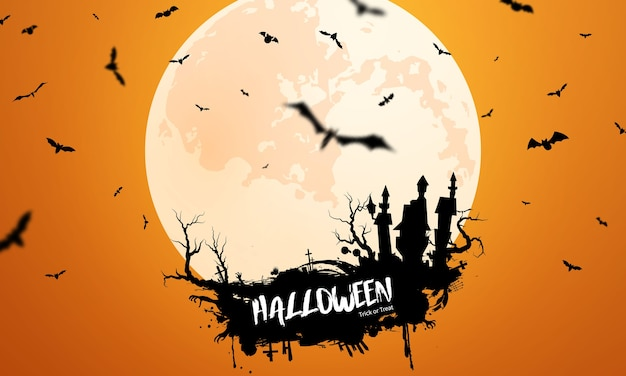 Плакат вечеринки в честь хэллоуина. карнавал фон концепции дизайна Premium векторы