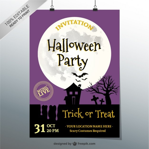 Halloween party poster vector free download halloween party poster free vector stopboris Gallery