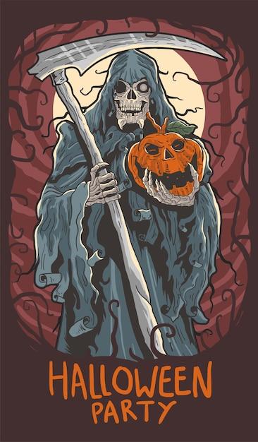 Halloween party spooky Premium Vector