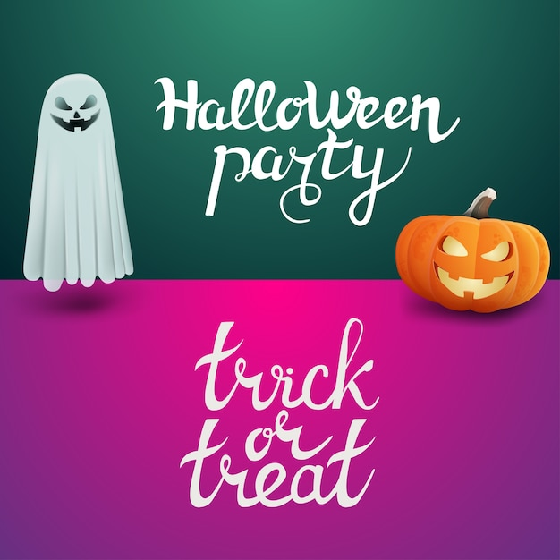 Halloween party and trick or treat Premium Vector