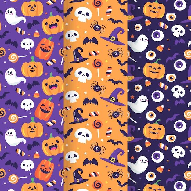 Halloween pattern draw Free Vector