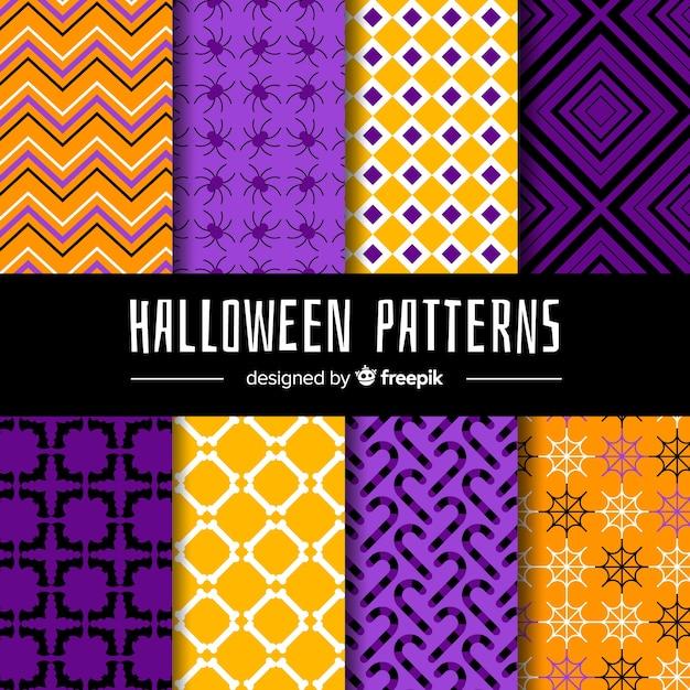 Halloween pattern pack Free Vector