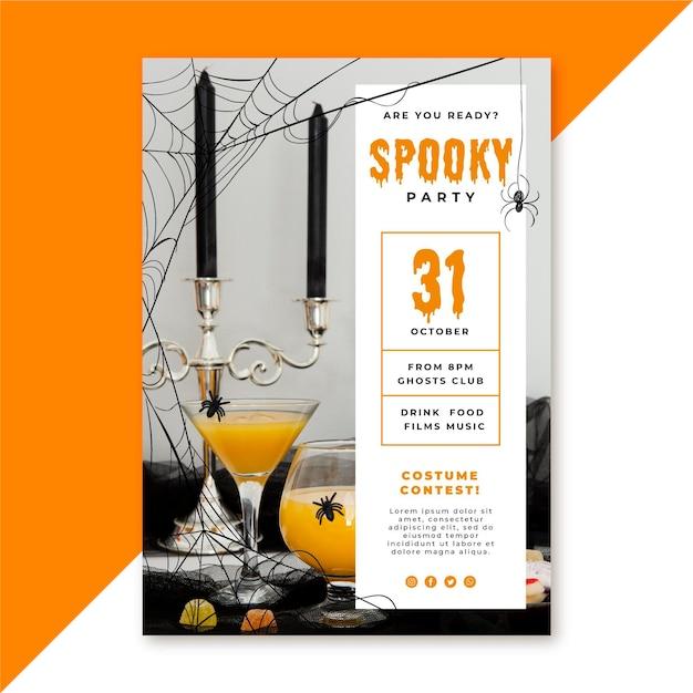 Шаблон плаката на хэллоуин Бесплатные векторы