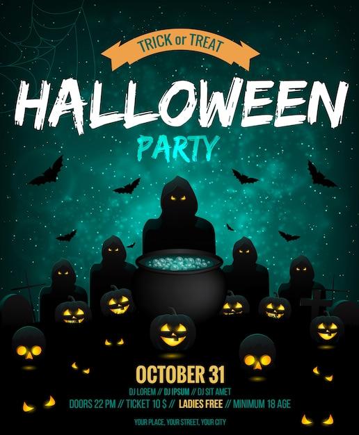 Halloween poster Premium Vector