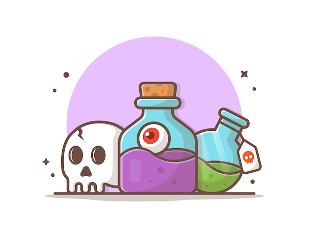 Halloween potion vector icon illustration Premium Vector