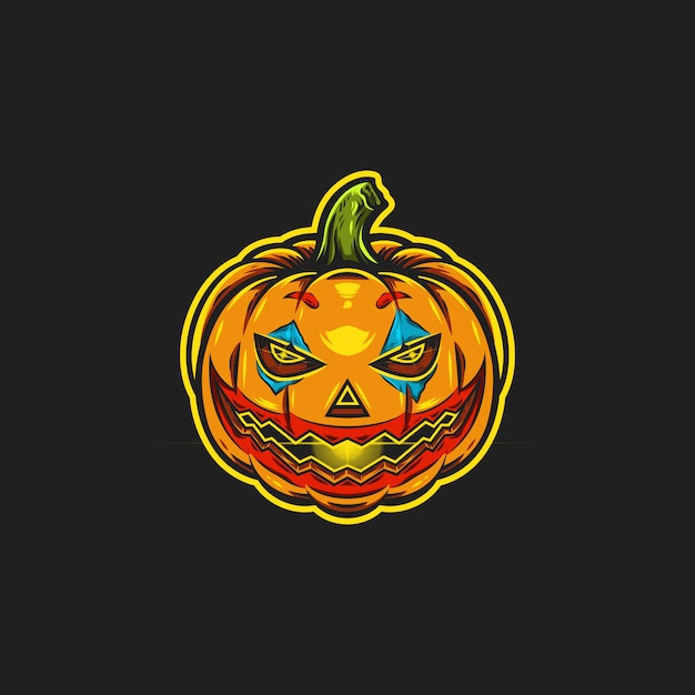 Halloween pumpkin illustration Premium Vector