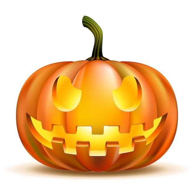 Zucca di halloween isolata Vettore gratuito