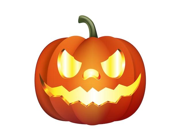 Halloween pumpkin isolated Premium Vector