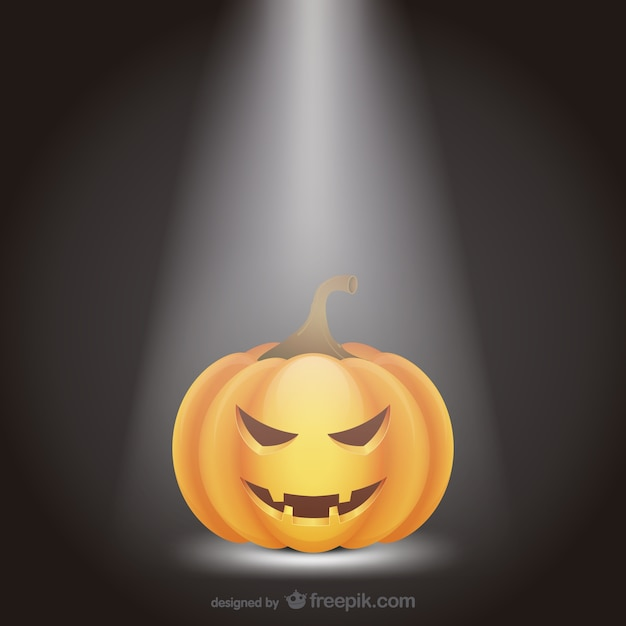 Halloween pumpkin with spotlight