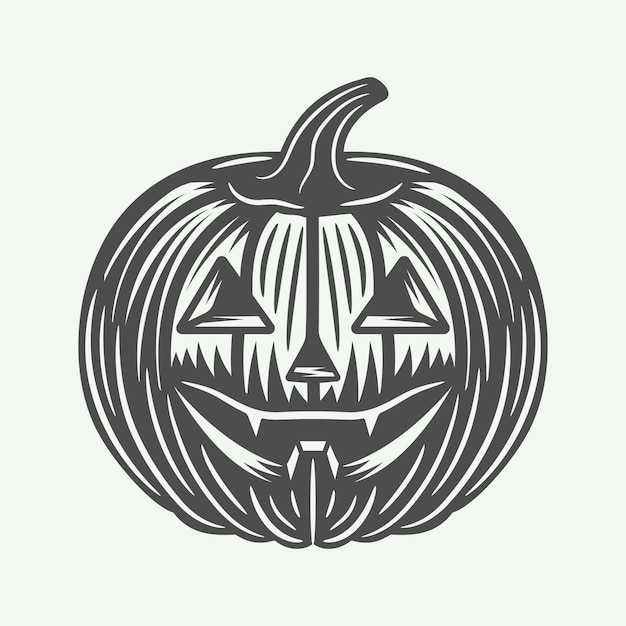 Halloween pumpkin Premium Vector