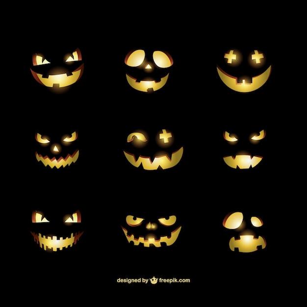 Halloween pumpkins smileys