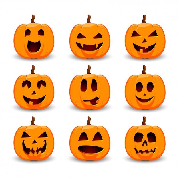 Halloween pumpkins Premium Vector