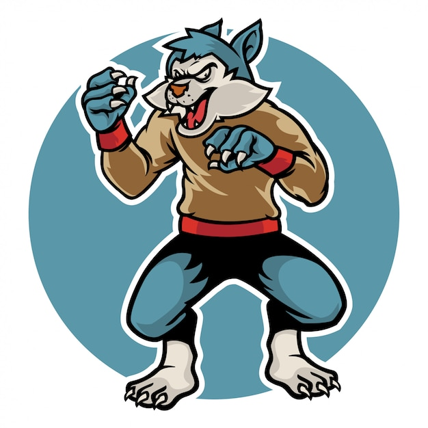 Halloween's scary ware wolf ready to pounce on you Premium Vector