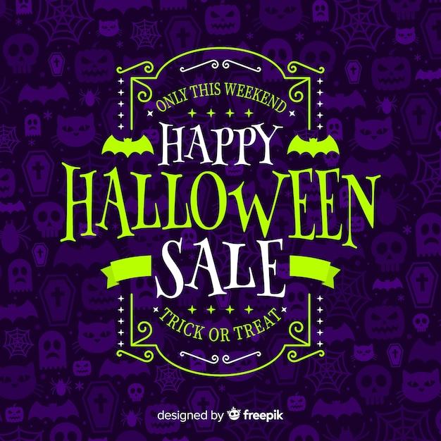 Halloween sale background Free Vector