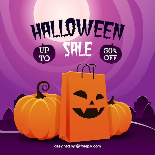 Halloween sale design Vector | Free Download