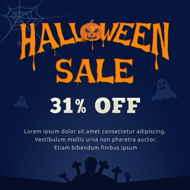 Halloween sales background Vector | Free Download
