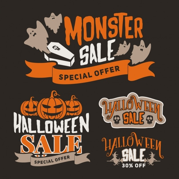 halloween sales designs free vector - Halloween Sales