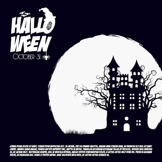 Halloween scary background Free Vector
