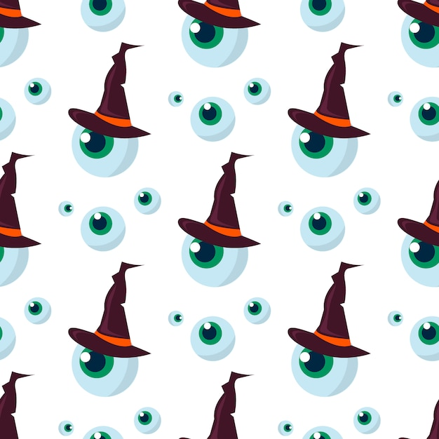 Halloween seamless pattern ghost scary. Premium Vector