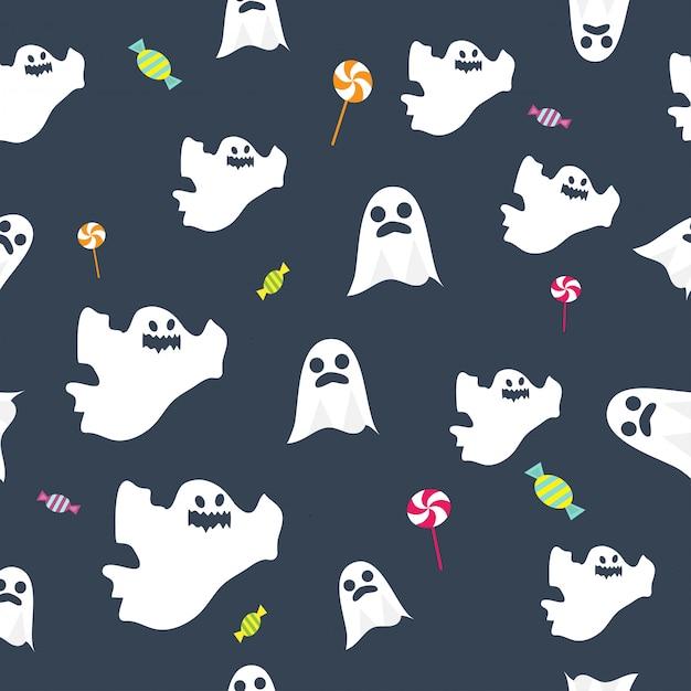 Halloween seamless pattern Premium Vector