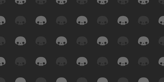 Halloween skulls  seamless pattern. Premium Vector