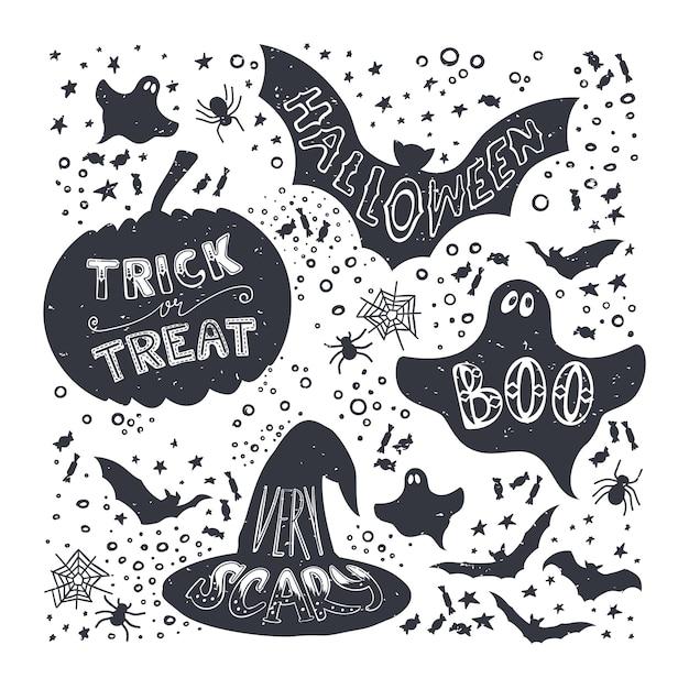 Halloween Symbols Vector Premium Download