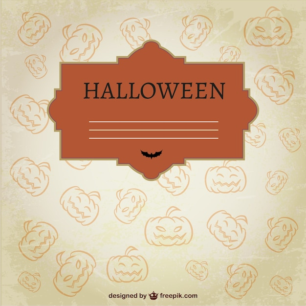 Halloween template with pumpkins
